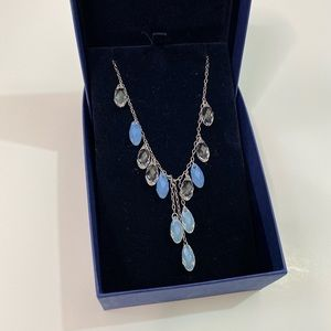 Swarovski crystal necklace blue and silver